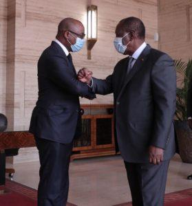 Audience auprès de Son Excellence le Président de la République de Côte d'Ivoire, Monsieur Alassane OUATTARA