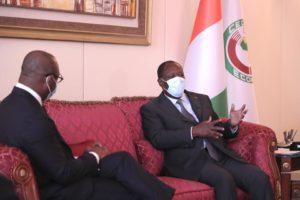 Audience auprès de Son Excellence Monsieur Alassane OUATTARA, Président de la République de Côte d'Ivoire