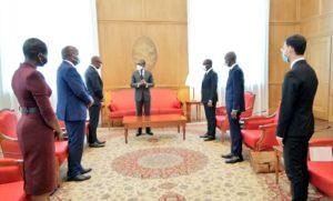 Audience auprès de Son Excellence Monsieur Patrice TALON, Président de la République du Bénin