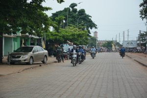 Paved road at Porto-Novo