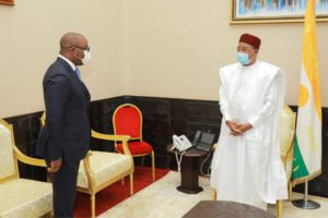 Audience auprès de Son Excellence Monsieur Mahamadou ISSOUFOU, Président de la République du Niger