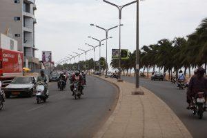 Boulevard du Mono à Lomé (Togo)
