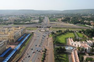 Multi-way interchange at Rond-Point de la Paix in Bamako
