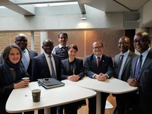 Visite de travail du Département des Opérations de la BOAD à l'AFD: ici, en présence de Mr Rémy RIOUX, Directeur Général de l'AFD